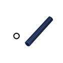 "Ferris File-A-Wax Ring Tube, Center Hole, Blue,1 1/16"" OD"