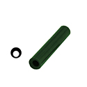 "Ferris File-A-Wax Ring Tube, Off-Center Hole, Green, 1 1/16"" OD"