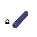 "Ferris File-A-Wax Ring Tube, Flat Side With Hole, Blue, 1 5/16"" high x 1 3/16"" wide"