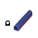 "Ferris File-A-Wax Ring Tube, Flat Side With Hole, Blue, 1 1/8"" high x 1"" wide"