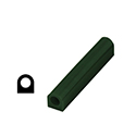 "Ferris File-A-Wax Ring Tube, Flat Side With Hole, Green, 1"" high x 1 5/8"" wide"