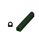 "Ferris File-A-Wax Ring Tube, Flat Side With Hole, Green, 1 1/8"" high x 1"" wide"
