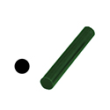 "Ferris File-A-Wax Ring Tube, Solid Bar, Green, 7/8"" OD"