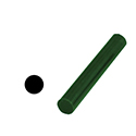 "Ferris File-A-Wax Ring Tube, Solid Bar, Green, 1 1/16"" OD"