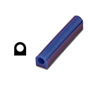 "Ferris File-A-Wax Ring Tube,Flat Side With Hole, Blue, 1"" high x 1 5/8"" wide"