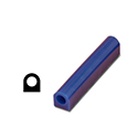"Ferris File-A-Wax Ring Tube,Flat Side With Hole, Blue, 1 1/8"" high x 1 1/8"" wide"
