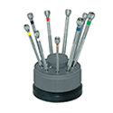 Bergeon Screwdriver Set with Rotating Stand - Set of 9