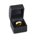 Ring Box - Gentry Collection - Black (10 pack)