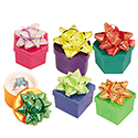 Assorted Shaped Hat Boxes - Bright Solid Colors