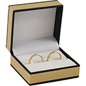 Double Ring Box - Metallic Collection - Gold (12 pack)