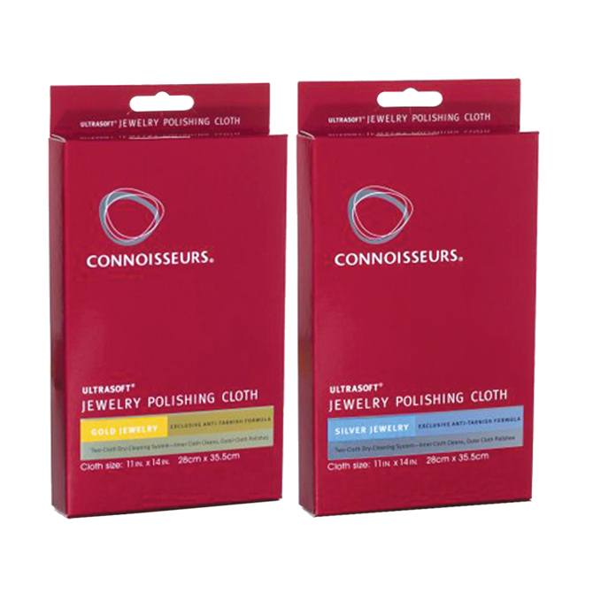 Connoisseurs jewelry polishing cloth connoisseurs for Jewelry cleaning kit target