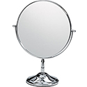 Double-Sided Chrome Round Mirror