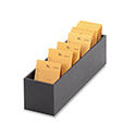 Job Envelope Holder - Black Leatherette - 14 1/2