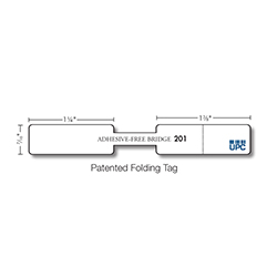Kassoy Ring Tags - 201 Series - 2,500 per Roll - White