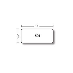 Kassoy Flat Jewelry Labels - 501 Series - 3,300 per Roll - White