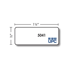 Kassoy Flat Jewelry Labels - 5041 Series - 3,300 per Roll - White