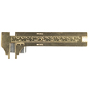 Brass Vernier Gauge with Backed Underplate- 80mm