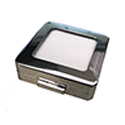 Deluxe Self-Locking Gem Display Box - Chrome - Medium