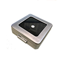 Deluxe Self-Locking Gem Display Box - Silver - Medium
