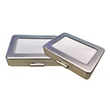 Deluxe Self-Locking Gem Display Box - Silver - Large