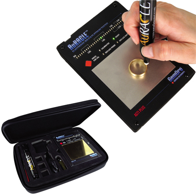 Gold And Silver Tester : Precious metal tester gemoro auracle agt plus