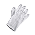 Heavy Inspection Gloves - Cotton/Polyester Blend - White