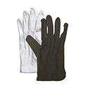 Inspection Gloves - 100% Cotton - White or Black