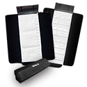 Customizable Italian Jewelry Roll - Black