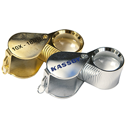 Kassoy 10x Diamond Cut Loupe - Chrome