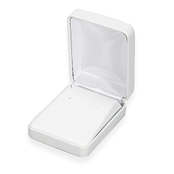 Large Earring Box - Simplicity Collection - White