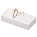 9 Bangle Display - White Leatherette