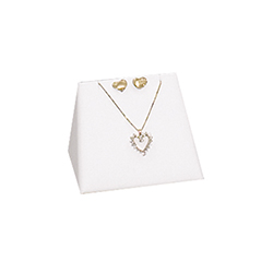 Earring/Pendant Stand - White Leatherette