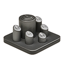 6 Ring Display Set - Steel Gray
