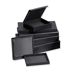Leatherette Jewelry Tray with Magnetic Cover - Full size - 1
