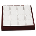 Darkwood Stackable Tray - 16 Pendant Slots