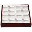 Darkwood Stackable Tray - 16 Pair Earring Flaps
