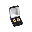 Large Drop Earring Box - Black Velvet (12 pack)