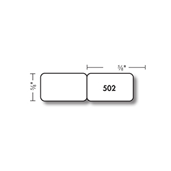 Kassoy Flat Jewelry Labels - 502 Series - 25,000 per Roll - White