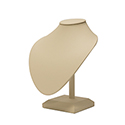 Bust on Stand - Beige Leatherette