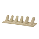 6 Finger Display - Beige Leatherette