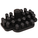 24 Ring Display Set - Black Leatherette