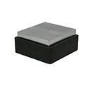 "Steel and Rubber Block 2.5"" x 2.5"" x 1.25"""
