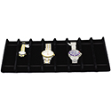 Black Velvet Tray Insert - 8 Bracelets/Watches