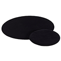 5 Round Counter Pads - Black Velvet