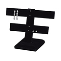 20 Pair Double Arm Earring Stand - Black Velvet
