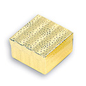 Gold and White Square Box - 100/pack