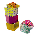 Assorted Shaped Hat Boxes - Star Foil Pattern