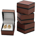 Earring Box - Metallic Collection - Burgandy (12 pack)