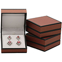 Earring/Pendant Box - Metallic Collection - Burgandy (12 pack)