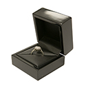 Ring Box - Sienna Collection - Black/Black (10 pack)